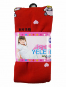 Yelete Girls Fashion Tights Leggings - Girls Leggings Red w/ Bears -