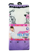Yelete Girls Fashion Tights Leggings - Girls Leggings Purple w/ Cinderella Design -