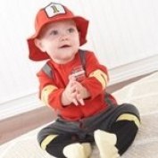 Baby Aspen BA16010FF Big Dreamzzz Baby Firefighter Two-Piece Layette Set in Firefighter-themed Gift Box