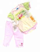 Bon Bebe Baby Girls 3pc Set Size 3-6Mos