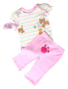 Bon Bebe 3Pc Baby Girls Set Size 3-6Mos