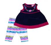 Genuine Baby From Oshkosh Newborn Girls 2pc Multi Dress Legging Set