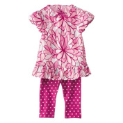Genuine Baby From Oshkosh Newborn Girls 2pc Pink Flower Set