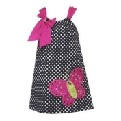 Black and White Dot Woven Butterfly Dress Size 2t