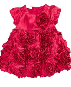 Baby's First Baby Girls Red Tafetta Dress (2 Piece Set) Size