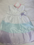 Baby Dress Spring / Summer / Easter White Lilac Blue Sleeveless By Youngland Baby Size 4 - 48 Months