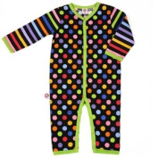 Little Miss Match Coveralls, Black Zany 0-3 Months