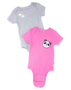 "Baby Boutique® Infant ""Baby Panda"" Romper Set, Grey/Pink, 6/9 Months"