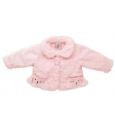 Fuzzy Wear Girls Pink Poodle Jacket, 12-18 months