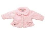 Fuzzy Wear Girls Pink Poodle Jacket, 18-24 months