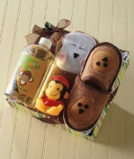 Kids' Monkey Bath Slipper Set