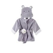 """Baby Aspen """"Hug-alot-amus"""" Hooded Hippo Robe, Lavender, 0-9 Months"""