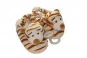 Plush Tiger Print Baby Slippers
