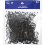 Pack of 500 Snag-Free Small Black Silicone Rubber Bands Rubberbands for Styling, Kids Hair, Braids Hair, Babies, Hair Twists, Tender-head Scalps, Ethnic Styles and Even Fishing, Urban Essence Brand