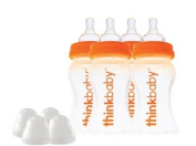 thinkbaby BPA Free, Baby Bottles Twin Pack, 270ml, 2 pack, 4 bottles total
