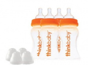 thinkbaby BPA Free, Baby Bottles Twin Pack, 270ml, 2 pack, 4 bottles total