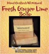 Fresh Ginger Lime Soap Soap - All Natural / Vegan - 2 Bars