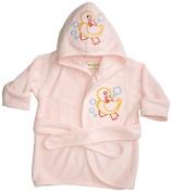 Funkoos Rubber Ducky Organic Hooded Bathrobe, Baby Girl