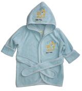 Funkoos Bath Time Organic Hooded Bathrobe for Babies, Baby Boy