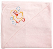 Funkoos Rubber Ducky Organic Baby Girl Hooded Towel, Girl, Infant/Baby