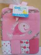 Cutie Pie Hooded Towel & 4 Washcloths - Pink Fish