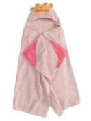 Peanut & Ollie Hooded Princess Bath Towel Child Size Pink 100% Cotton