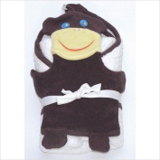Under the Nile Bath Time Favourites Hooded Towel and Wash Cloth Set, Monkey