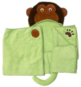 Monkey - One of a kind and extra large Character Towel with paws and a tail, by Frenchie Mini Couture
