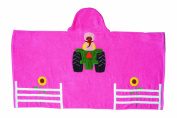 John Deere Hooded 100% Cotton Towel, Girl Tractor
