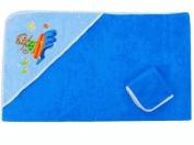 Baby Hooded Towel Set - Blue Monkey