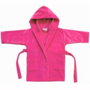 Velour Terry Hooded Cover-Up - Hot Pink - Small 4-6 Years