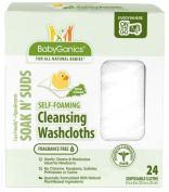 BabyGanics Soakin' Suds Disposible Washcloths - Fragrance Free - 24 ct