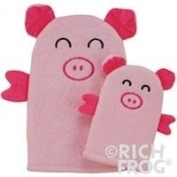 Rich Frog Mom and Mini Wash Mitts, Pink Pigs