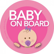 Baby on Board Car Sticker - Modern and Unique - Bright Colours