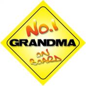 No.1 Grandma on Board Novelty Car Sign Novelty Gift / Present