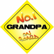 No.1 Grandpa on Board Novelty Car Sign Novelty Gift / Present