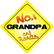 No.1 Grandpa on Board Novelty Car Sign Novelty Gift / Present