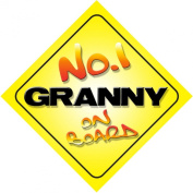 No.1 Granny on Board Novelty Car Sign Novelty Gift / Present