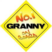No.1 Granny on Board Novelty Car Sign Novelty Gift / Present