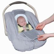 Jolly Jumper Sneak a Peek Sneak-a-Peek Infant Carseat Cover Deluxe Grey