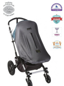SnoozeShade Original Deluxe - breathable mesh sun and sleep stroller shade