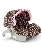 Baby Bella Maya Infant Car Seat Cover Ginny Giraffe With Ruffle