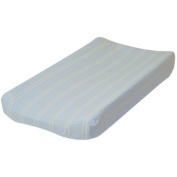 Blue with Cream Stripes Changing Pad Cover