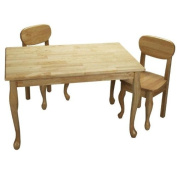 GiftMark Rectangle Queen Anne Table and Chair Set, Natural