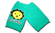 """HAPPY GREEN - KNEE PROTECTOR Baby Leggings/Leggies/Leg Warmers for Cloth Nappies - GIRLS OR BOYS & ONE SIZE by """"BubuBibi"""