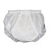 Baby Nappy Covers Embroider Blank Bloomers- White - 24 months