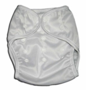 One Size Fit All- Nappy Covers for Prefolds or Regular Inserts PUL - WHITE