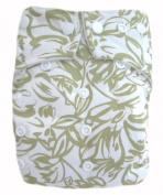 "Kawaii Baby Good Night Heavy Wetter One Size Pocket Cloth Nappy with 2 Large Microfiber Insert "" Light Green Aloha """