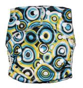 Bamboo Pocket Snaps Cloth Nappy/ Nappy - OS - CIRCLES PRINT