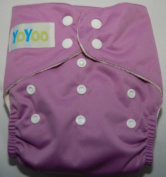 YoYoo One Size Bamboo Pocket Nappy Violet. FuzziBunz